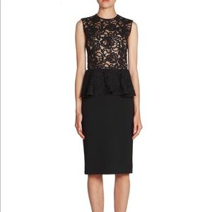 Saint Laurent fall 18 lace top peplum dress new!